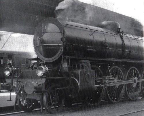 FS Gr.746 dotata di distribuzione Caprotti: si nota la semplificazione dei biellismi. Foto O.C.Perry, Denver Public Library
