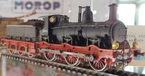 Modello artigianale in scala H0 della locomotiva FS 3802 (gruppo 380), esposto a Hobby Model Expo 2012 - Foto Arbalete da mediawiki