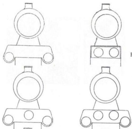 Schemi di disposizione cilindri per macchine a espansione semplice, tratto da marklinfan