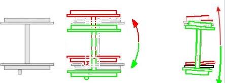 Traslazione dell'asse motore del Carrello Italiano - disegno © Giancarlo Giacobbo da http://gigispace.xoom.it/CARRELLO_ZARA/CARRELLO_ITALIANO.pdf