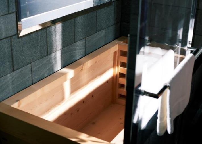 Vasca Da Bagno Giapponese : True ofuro di aquatica vasca giapponese freestanding in legno